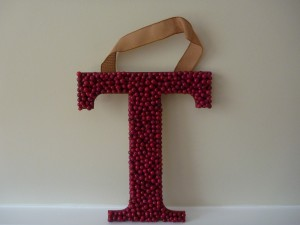Berry Letter T Wreath