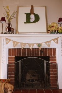 March Mantel burlap bunting