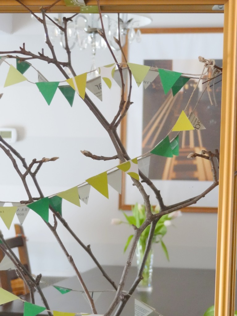 twig with mini flags