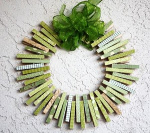 St. Patrick's Day Clothespin Wreath