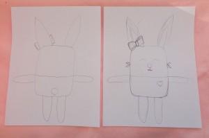 bunny lovie sketch