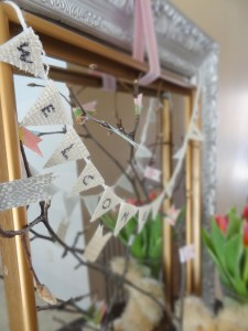 framed twigs spring decor