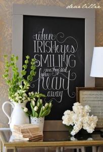 St Patrick's Day Chalkboard Art