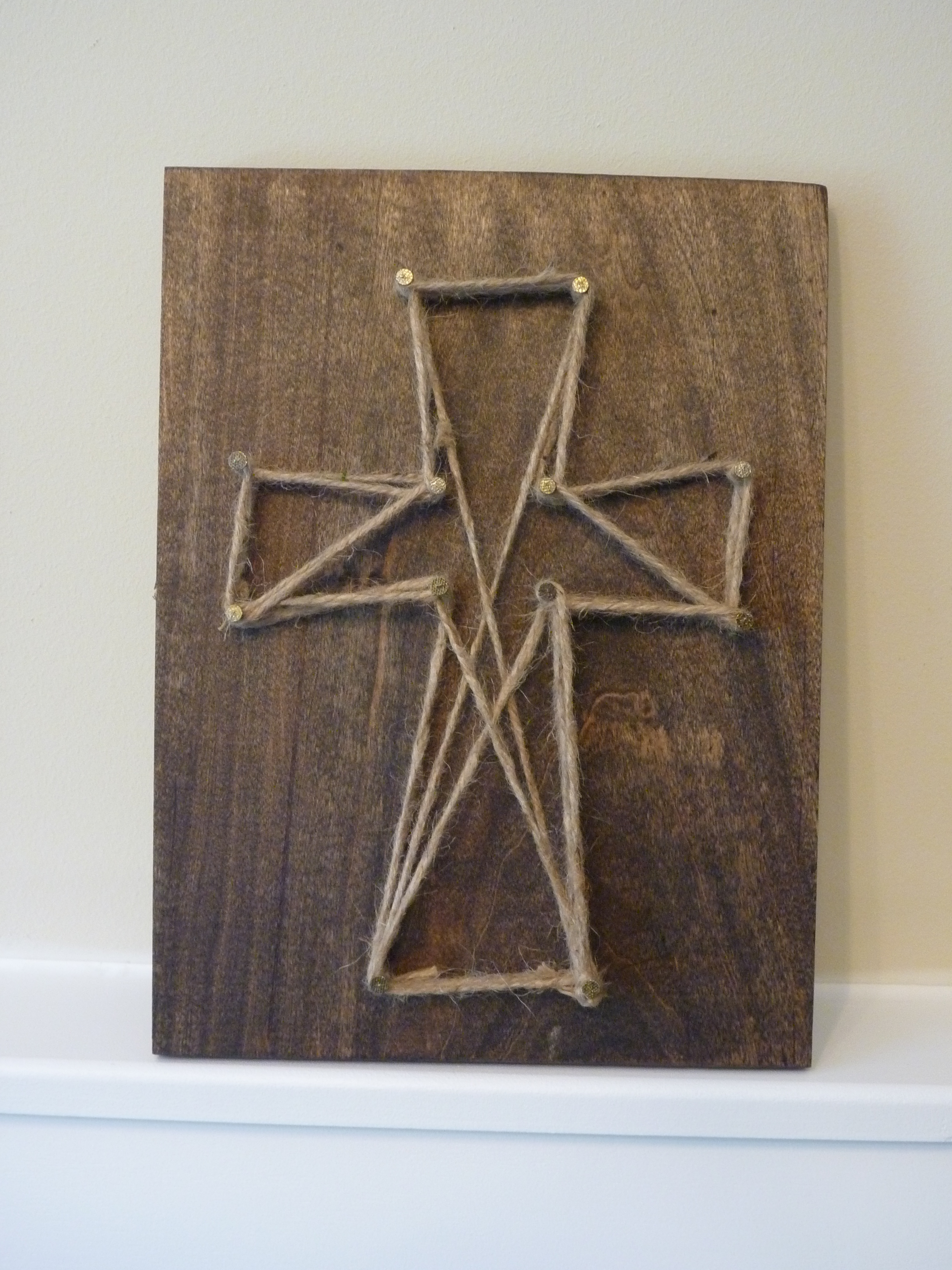 awesome Cross Wall Art Part - 8: Jute Cross