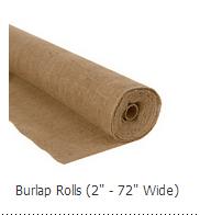 burlap rolls