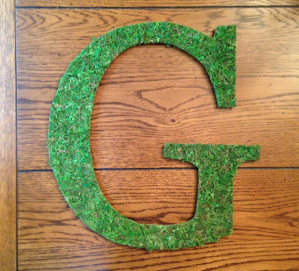 Moss Covered Letter