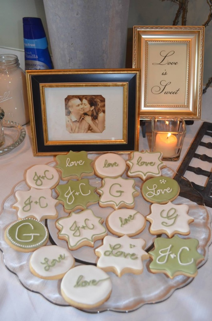 Vintage Garden Bridal Shower Cookies