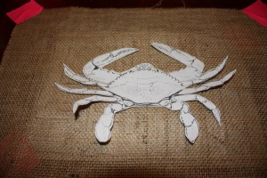 MD Burlap Crab Flag