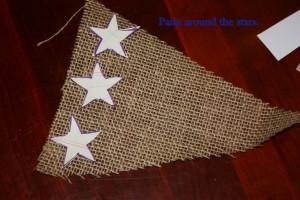 patriotic burlap bunting