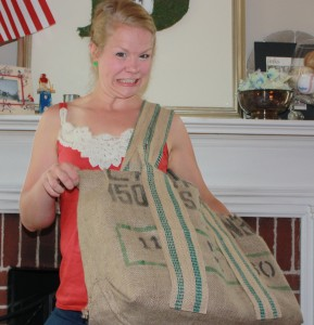 Burlap Coffee Bag Tote
