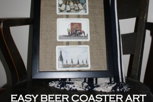 Easy Beer Coaster Art