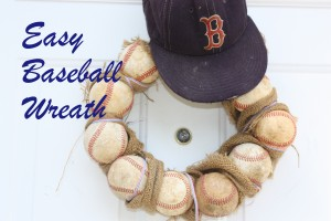 Easy Baseball Wreath