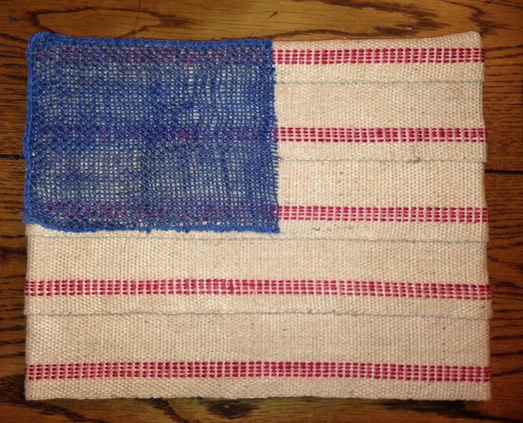 Burlap Webbing American Flag