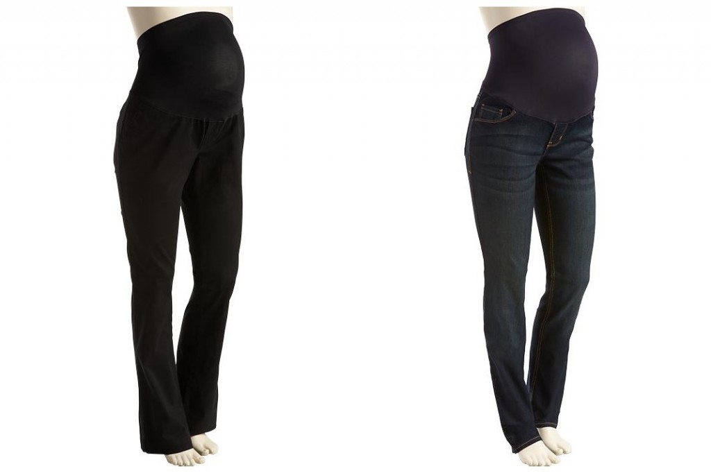 Love these bootcut black pants-- perfect for work and very comfy.  The skinny jeans are perfect for fall-- throw on some boots, maternity tank top, and big sweater and you're good to go!