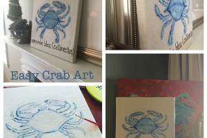 Drop Cloth Crab Art