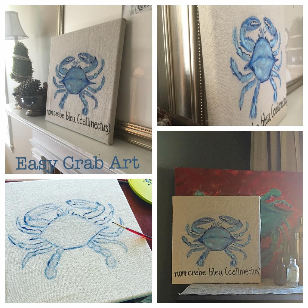 Drop Cloth Crab Art
